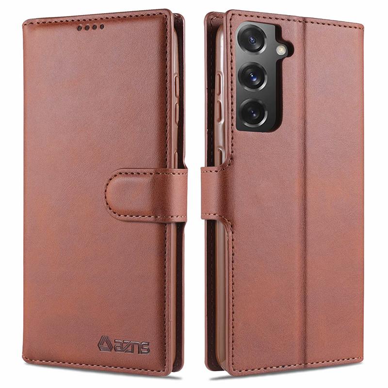 3. Bao Da Điện Thoại Nắp Gập Từ Tính Tích Hợp Ví Cho Samsung Galaxy S21 Ultra S21+
