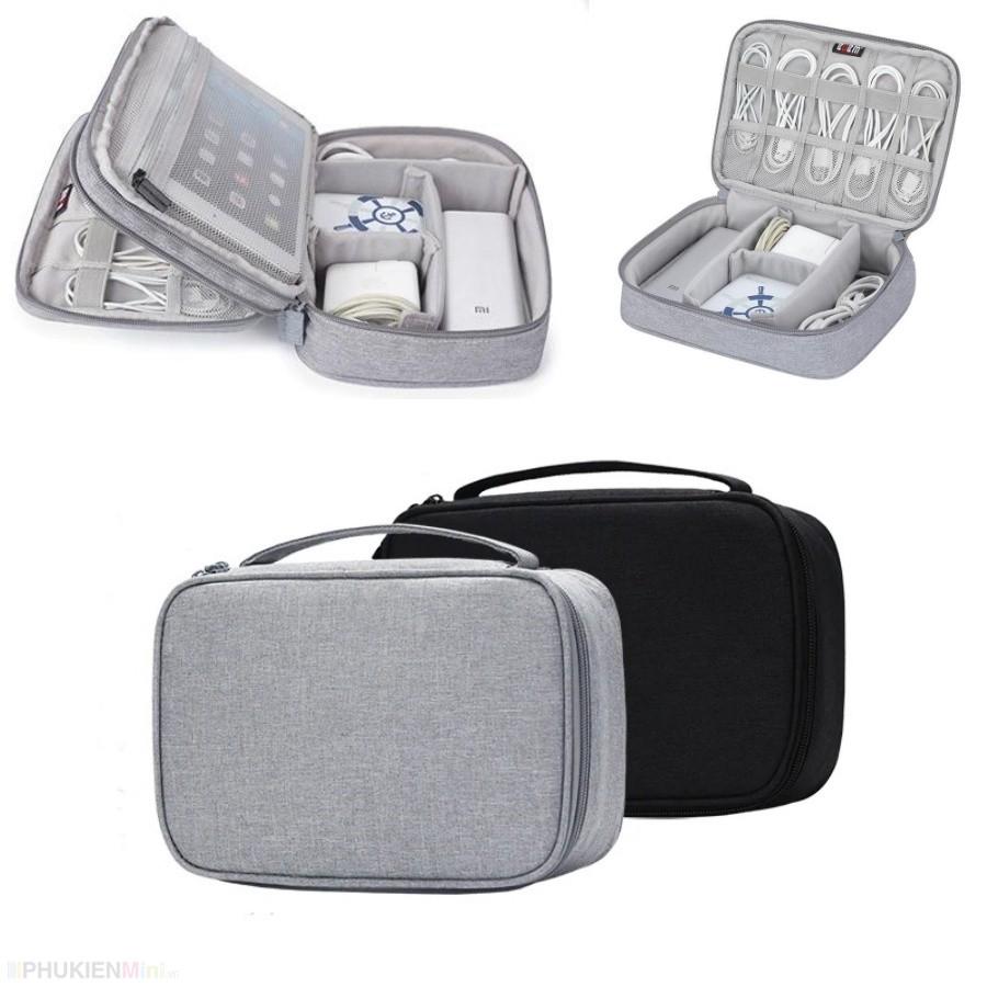Túi phụ kiện điện thoại, túi công nghệ BUBM 1 ngăn, 2 ngăn chuyên dụng đựng bộ sạc macbook, dây cáp sạc, pin dự phòng