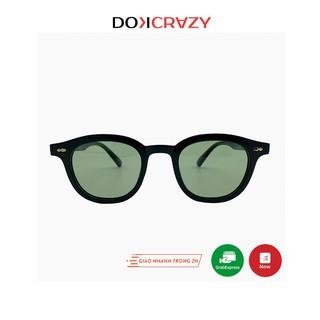 Kính mát vuông tròn cao cấp TIGA local brand DOKCRAZY thời trang nam nữ mắt râm phân cực chống tia UV style retro trendy