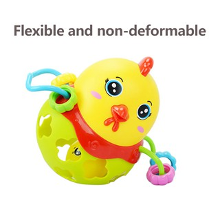 Aiary Baby Fitness Ball with Rubber Rattle and Buckle Hole