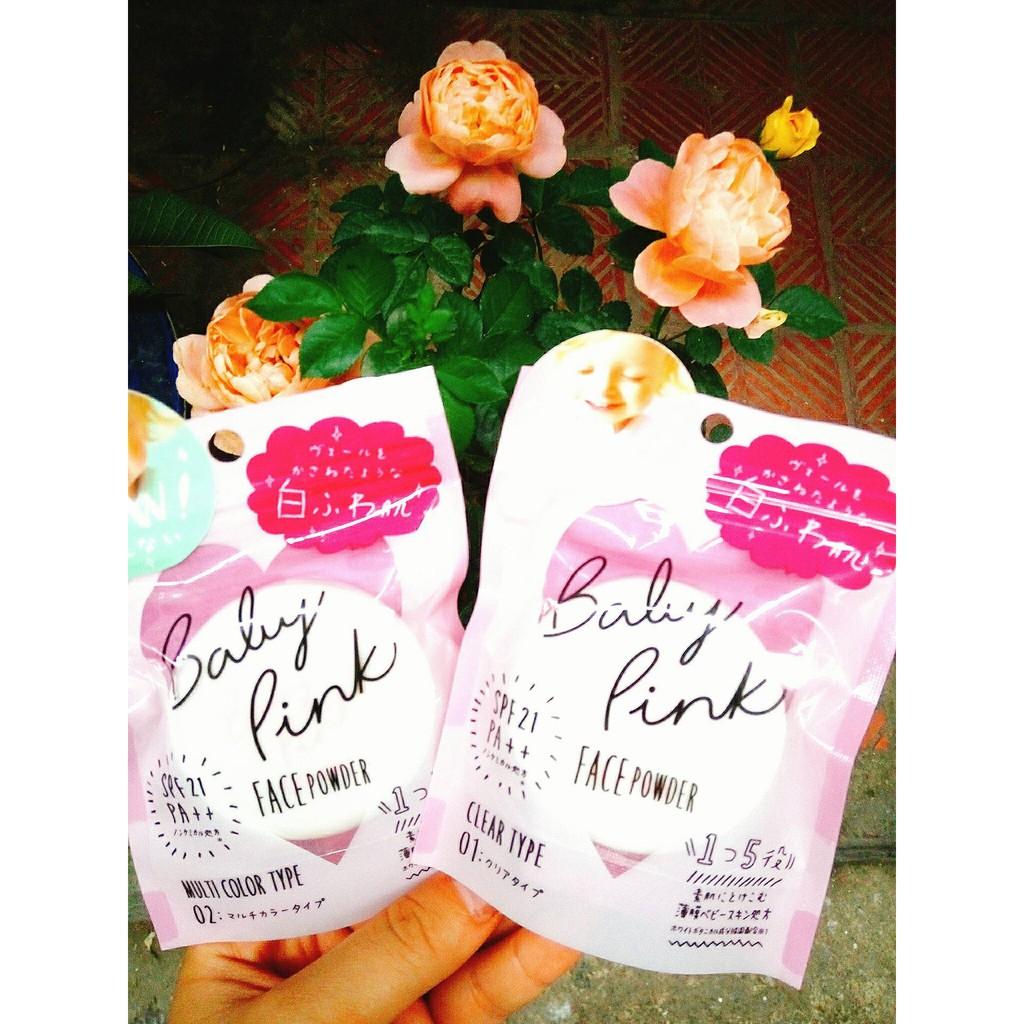 Phấn phủ Baby Pink BB Pressed Powder Nhật Bản mẫu mới 2018