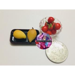 Hoa, quả -miniature, phụ kiện búp bê