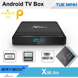 [Mã ELMS5 giảm 7% đơn 300K] Android TV Box X96 Air - Amlogic S905X3, 4GB Ram, 32GB bộ nhớ trong, Android 9