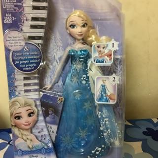 Búp bê công chúa elsa piano và chiếc váy kỳ diệu