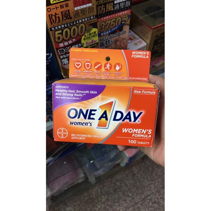 Viên Uống One A Day Women Multivitamin 100 Viên - Mỹ