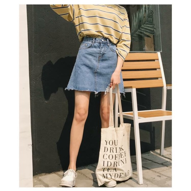 Aophongvn chân váy jeans