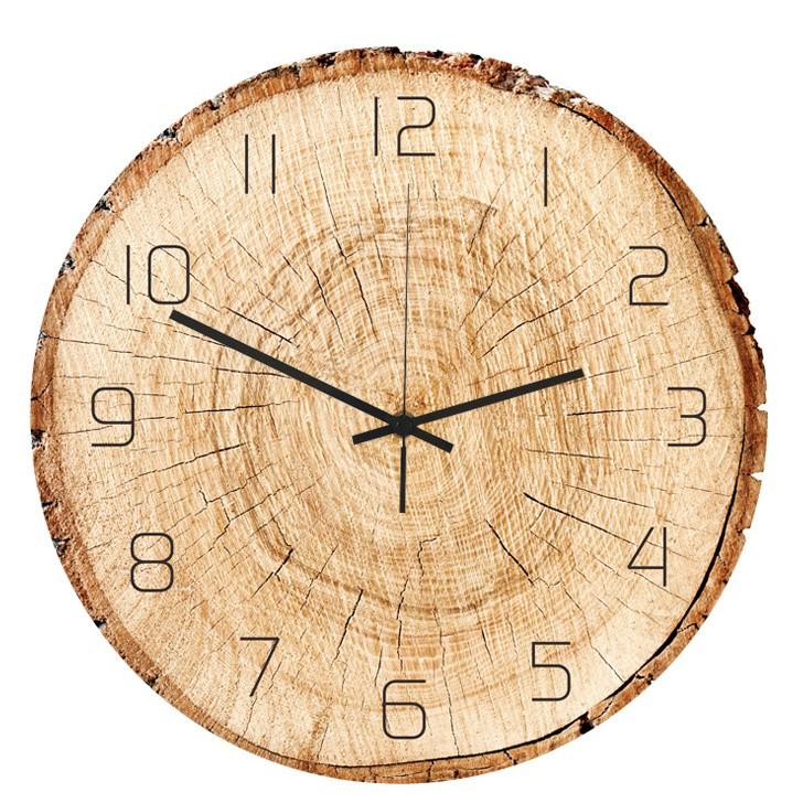 Đồng hồ treo tường kim trôi AOBA-101 PHIẾN GỖ
