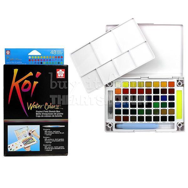 Màu nước SAKURA Koi watercolor 48 màu