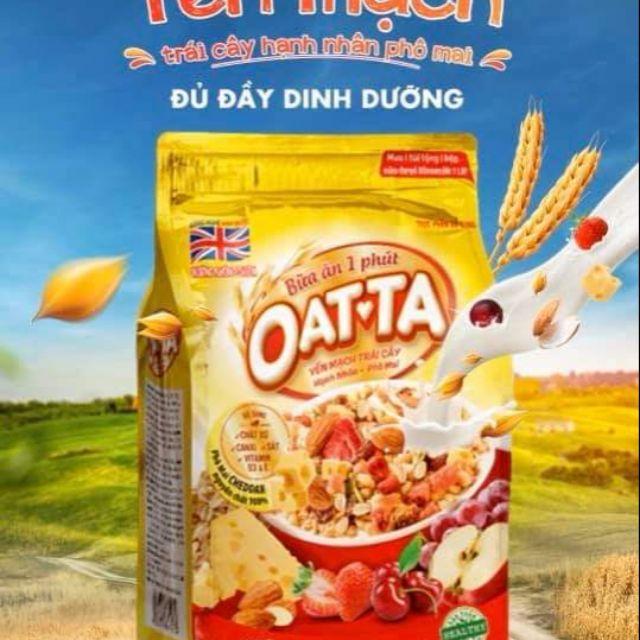 (Bịch lớn) OATTA - YẾN MẠCH TRÁI CÂY- HẠNH NHÂN, PHÔ MAI 800G (không bao gồm sữa)