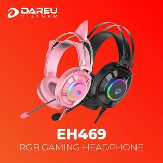 Tai nghe DAREU EH469 Pink / Black RGB 7.1 Mai Hoàng phân phối