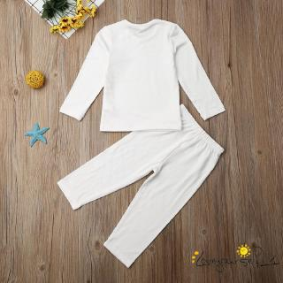 ♛loveyourself1♛-2PCS Toddler Baby Girl Boy Casual Clothes Set Warm Tops T-Shirt Pants Outfits