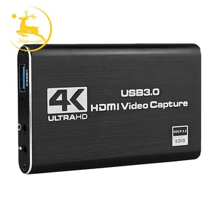 HDMI Video Capture Card 4K Screen Record USB3.0 1080P 60FPS Game Capture Device