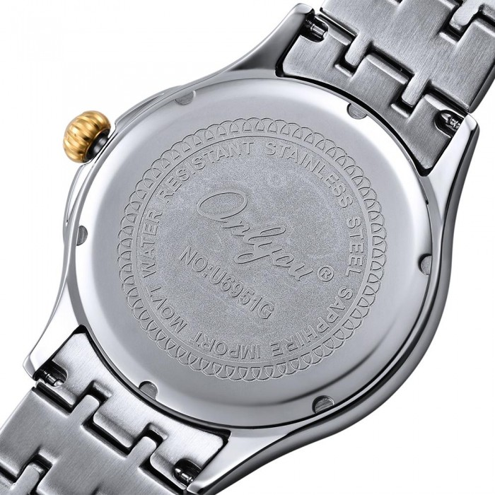 Đồng hồ Onlyou Nam 6951GB Dây thép không gỉ 40mm