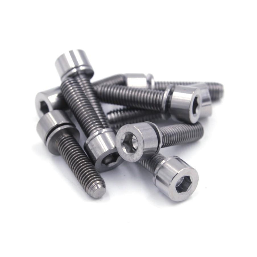 FREESHIP ĐƠN 99K_01 cặp ốc Titanium M5x20 - Ốc titan mẫu #03 (Màu trắng)