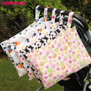 [IN*VN]Baby Protable Nappy Washable Nappy Wet Dry Cloth Zipper Waterproof Diaper Bags