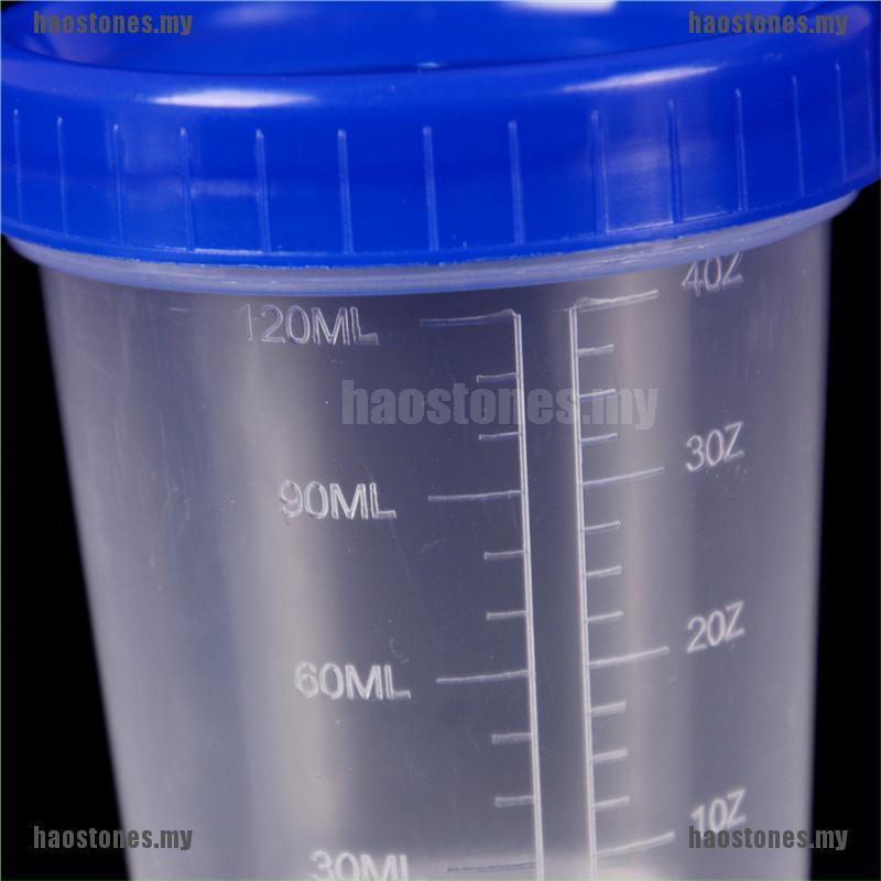Hộp đựng mẫu thử nước tiểu bằng nhựa có nắp 120ml chuyên dụng