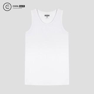 Áo ba lỗ trắng 100% Cotton co giãn thương hiệu Coolmate