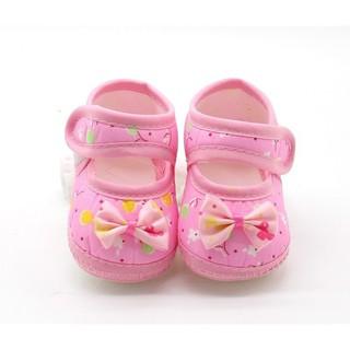 Giày đế mềm chất liệu cotton thoáng mát cho bé 3-12 tháng tuổi