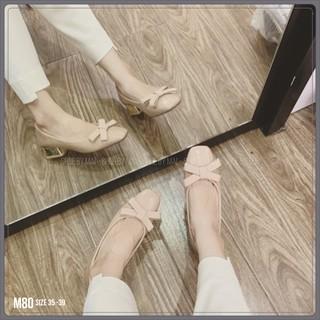Giày búp bế nơ đơn giản cá tính M80 SHOESBYMAI