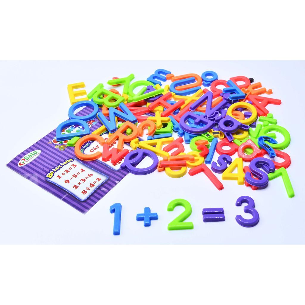 Bộ chữ và số nam châm tổng hợp 93 chi tiết (Sato96)