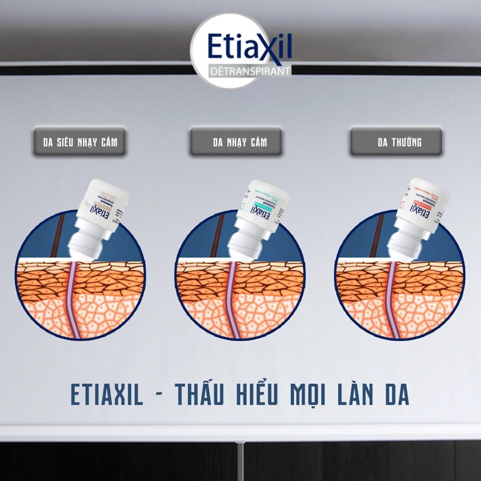Lăn khử mùi ETIAXIL 15ml - Da THƯỜNG/ NHẠY CẢM/ SIÊU NHẠY CẢM