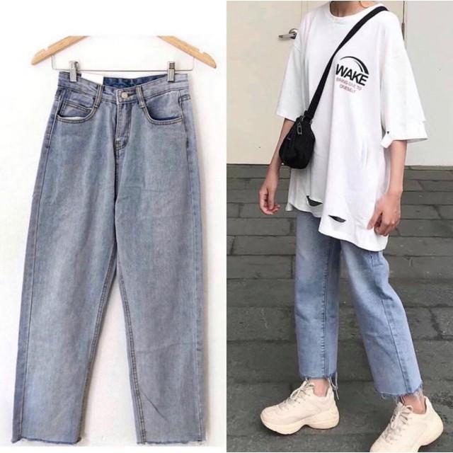 quần jean baggy rách ống