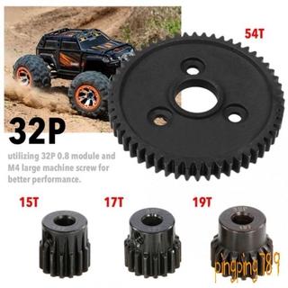 HAVE Steel Spur Metal Gear 32P Motor Pinion Gears for Traxxas Slash 4×4 Stampede 4×4 VXL Rustler 4X4 e-revo t-maxx