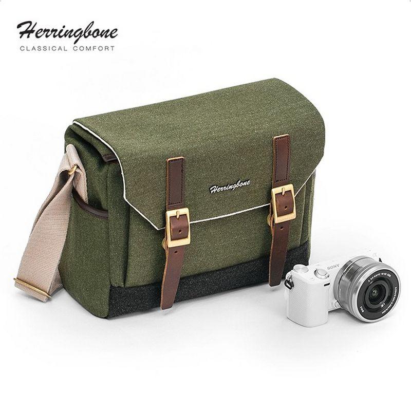 Herringbone Postman Small Olive | Chính hãng