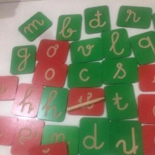 Bộ thẻ gỗ viết nét chữ