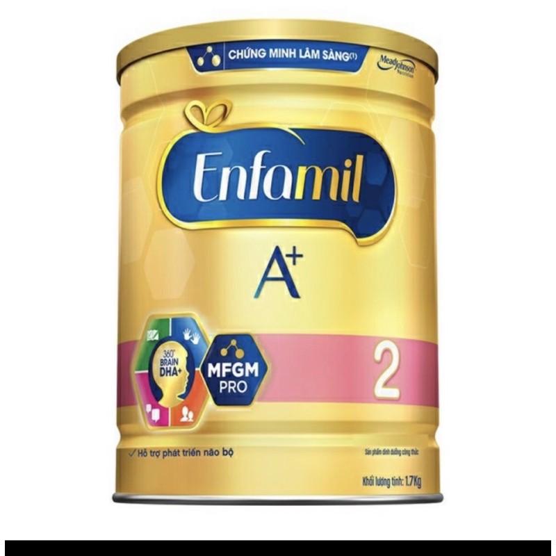 Sữa Bột Enfamil A+ 2 (1750g)-Hôp hơi móp