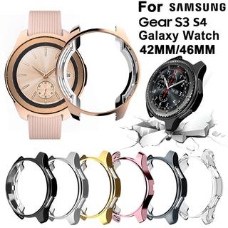 SAMSUNG Ốp Bảo Vệ Mạ Cho Đồng Hồ Thông Minh Samsung Galaxy Watch 46mm 42mm Gear S3 S4 Frontier
