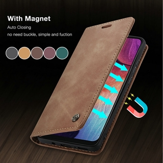 Matte Leather Flip Case For Samsung A42 5G Retro Magnetic Card Stand Wallet For Samsung Galaxy SM-A426B SM-A426B/DS