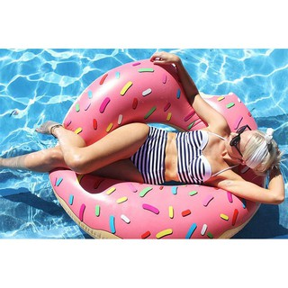 Inflatable Swim Ring Swimming Pool ride on water Lounger Adult kids Float Raft