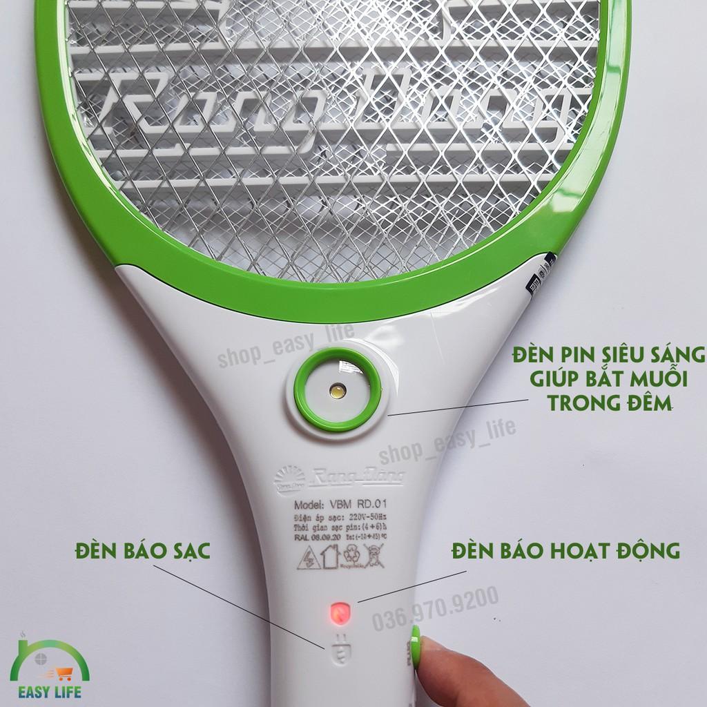 [PIN TRÂU] Vợt Muỗi Siêu Bền - Rạng Đông - RD-VBM-2021