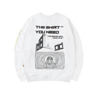 Sweater TSUN Broken Soul - White - unisex thumbnail
