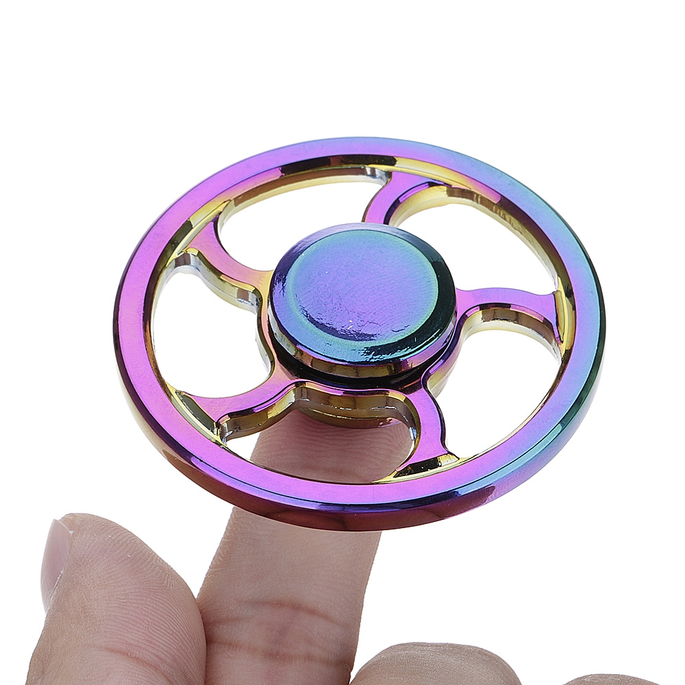 Colorful Wheel Anxiety Autism Stress Reducer Fidget Hand Spinner Toys New
