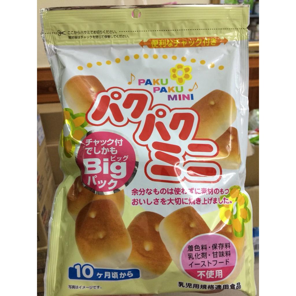 Bánh mì tươi Paku Paku Mini Nhật cho bé từ 10 tháng (date 10/2019)