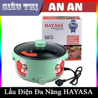 Nồi Lẩu Điện 5L Hayasa Ha-691 Đa Năng Chống Dính Công Suất 1300W Nấu Lẩu,Nấu Mì,Chiên,Xào,Nấu Thức Ăn bảo hành 12 tháng