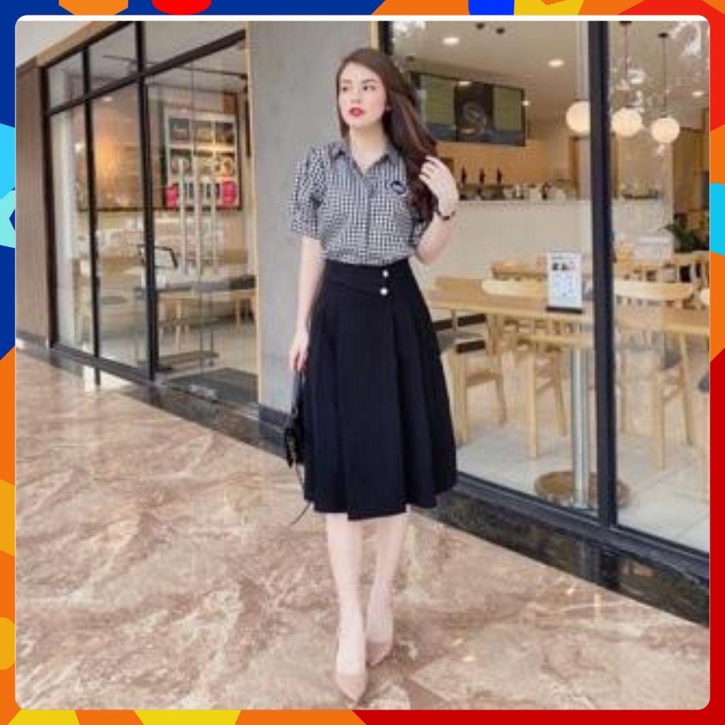 Chân Váy Công Sở [HOT 2020] Chân Váy Xoè, Kiểu Dáng Sang Trọng, Dễ Phối Đồ