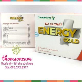 Energy Gold Đa vi chất Hộp 20 ống - bổ sung vitamin, hỗ trợ tăng sức đề kháng cho bé - Mẫu mới thumbnail