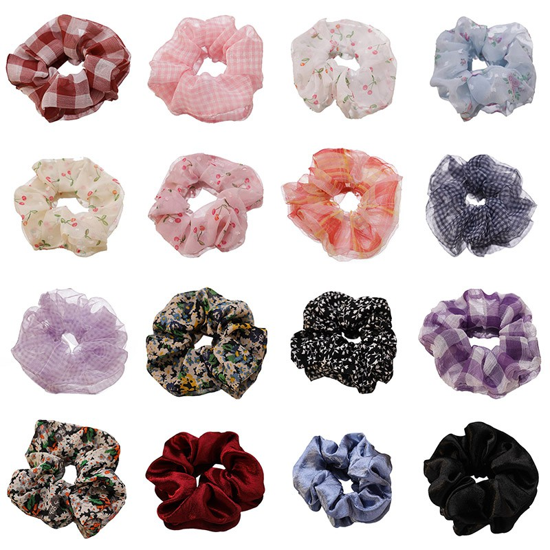 COD CHDM XiaoboACC Scrunchies Korean Fashion Chiffon Hair Tie