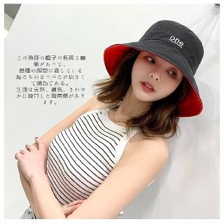 Mũ hai mặt hai màu phiên bản Hàn Quốc – Nón ngư dân cà phê đỏ đen vàng cam be hồng thoáng khí mềm mịn mát mẻ xinh