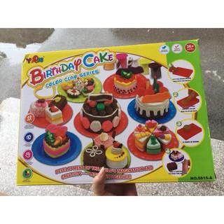 Bộ đồ chơi đất nặn cắt bánh sinh nhật cho bé yêu – [giadinhviet24h]