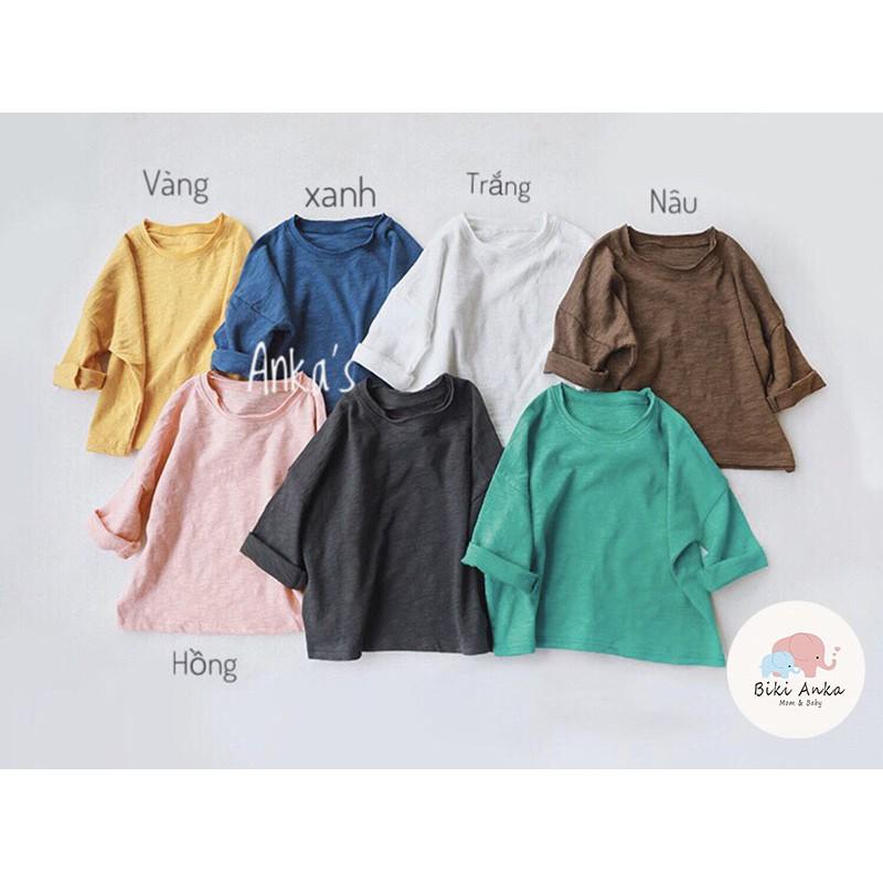 Áo phông thun dài tay xước Hàn Quốc cho bé trai bé gái (ảnh thật)