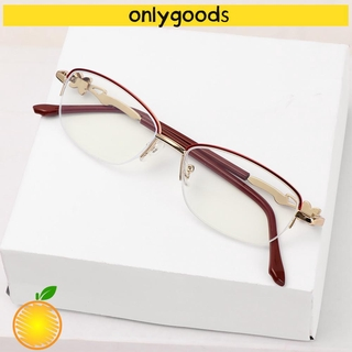 🎉ONLY🎉 Luxury Presbyopic Eyeglasses Radiation Protection Metal Frame Eyewear Anti Blue Light Reading Glasses Anti-UV Women Fashion Transparent Anti-fatigue Computer Goggles
