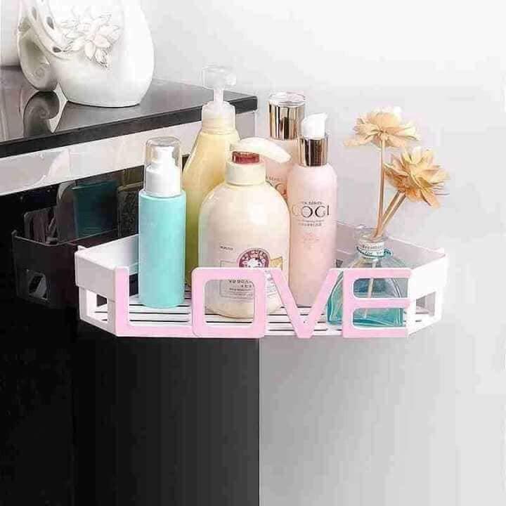Kệ góc nhựa nhà tắm Love