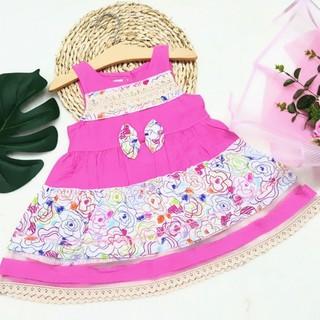 Đầm Váy Bé Gái Vải Đũi Mềm Mát Cho Bé 10-35kg