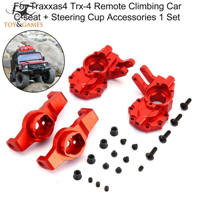 TRX4 Aluminum Steering Knuckles Portal Drive Housing & Caster Blocks 8232 8252 for RC Traxxas TRX-4