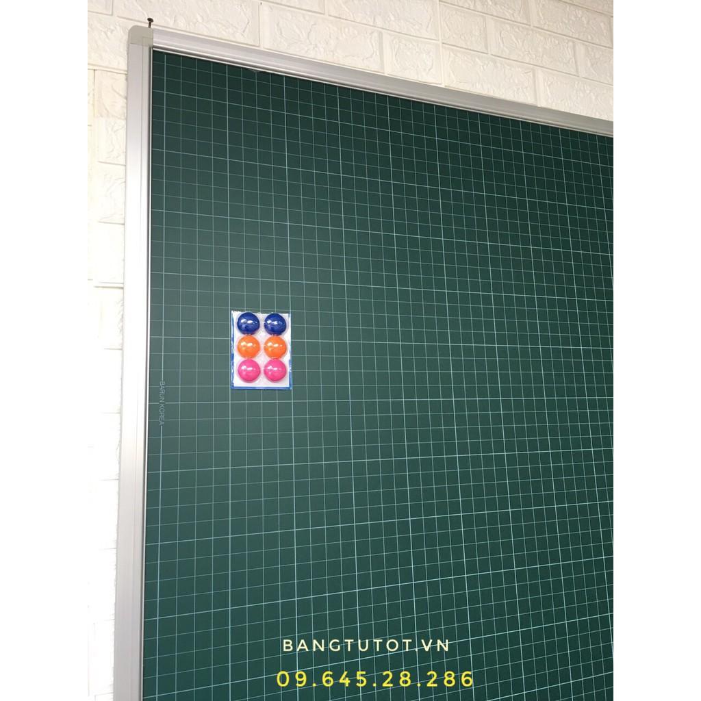 Bảng ô ly luyện chữ -bảng từ xanh 1.2x1.5 m Tăng hộp phấn, nam châm