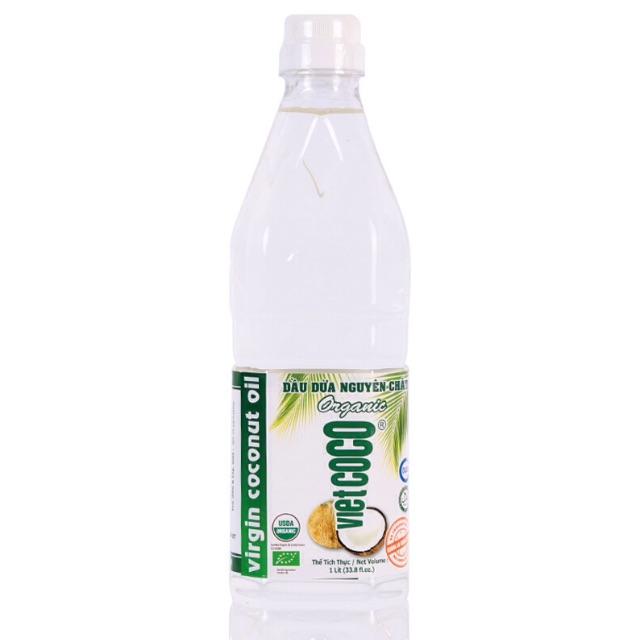 Dầu dừa hữu cơ nguyên chất ép lạnh Vietcoco 1L